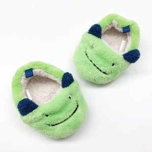 Swiggles green silly monster slippers